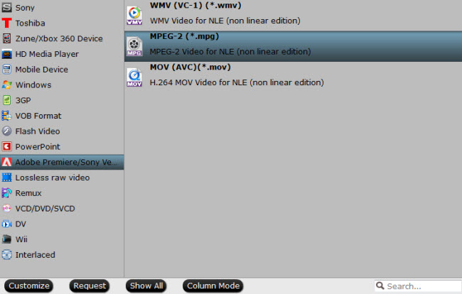 convert mp4 to mpeg-2 for premiere elements