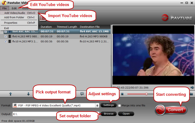 convert youtube videos to psp xbox wii