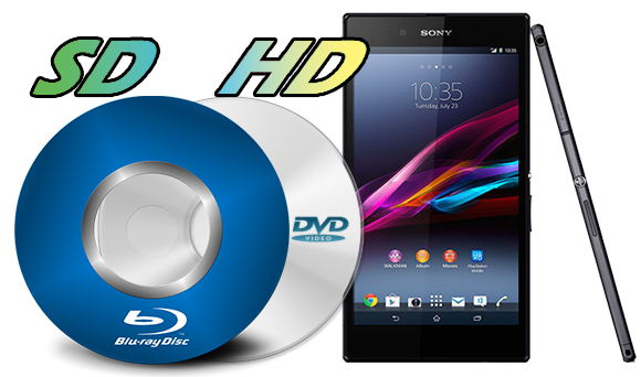 dvd blu-ray sd hd video to sony xperia