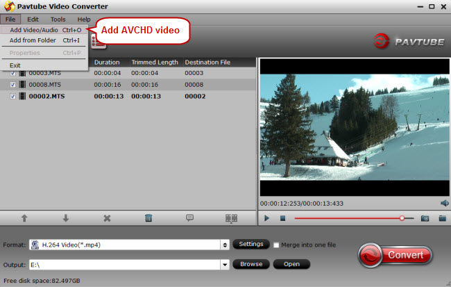 import avchd to avchd video converter