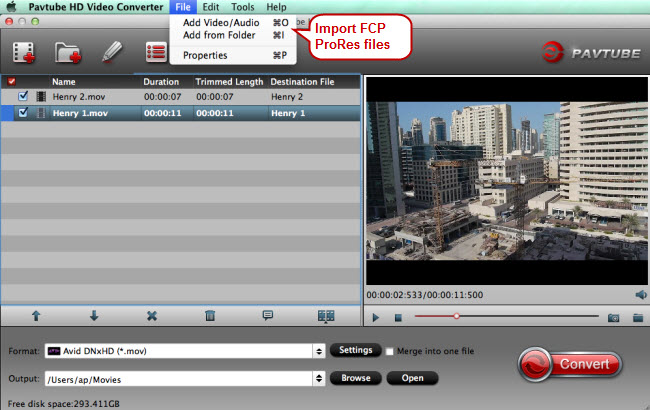 import fcp prores file
