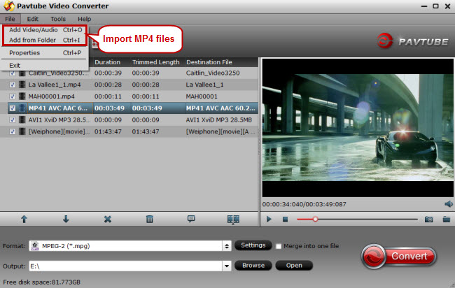 import mp4 to video converter for premiere elements