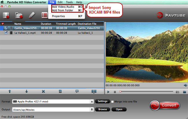 import sony xdcam mp4 to xdcam to fcp converter