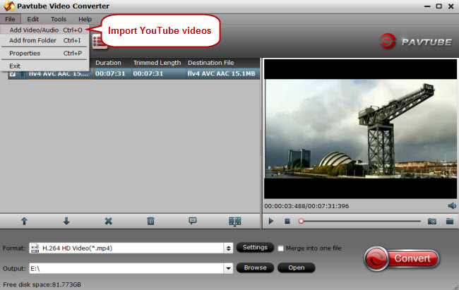 import youtube videos