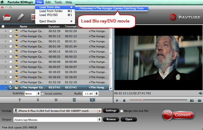 load blu-ray dvd movie for copying to usb flash drive