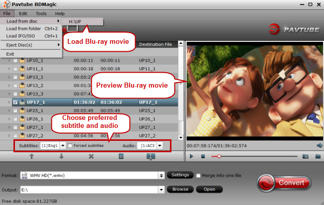 load blu-ray for ripping blu-ray to hd wmv