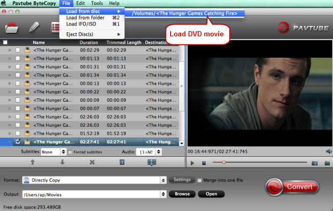 load dvd movie for dvd copy