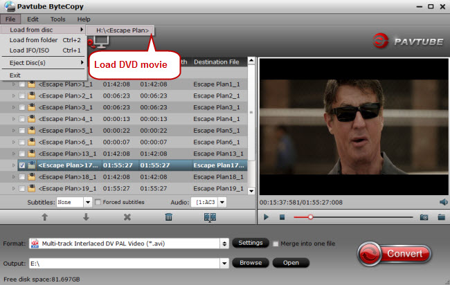 load dvd movie to dvd to avi converter