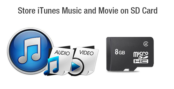 move itunes movies music to sd card