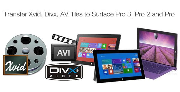 play divx xvid avi on surface pro 3