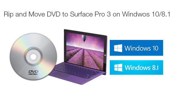 rip copy dvd to surface pro 3