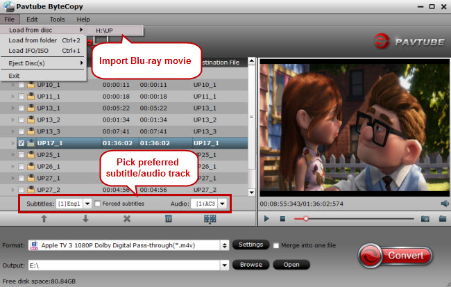 import blu-ray for ripping to itunes