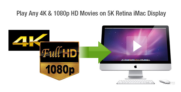 play 4K 1080p HD videos on iMac with 5K Retina display