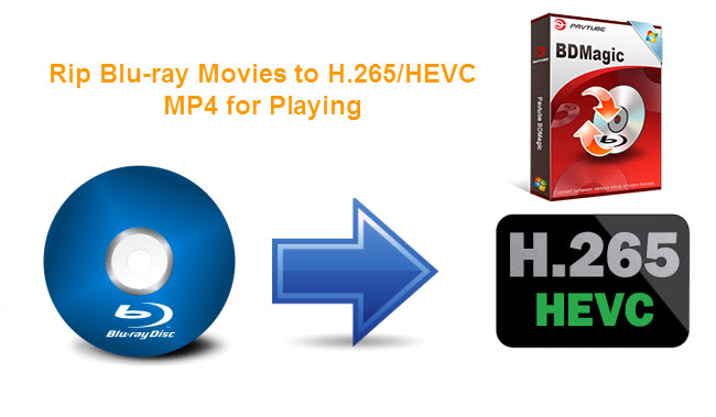 rip blu-ray to h.265 hevc mp4 for playing