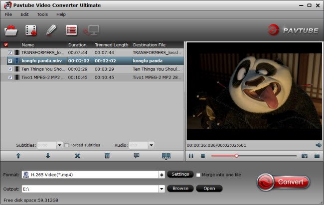 convert video to h.265 mp4
