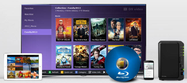 Stream Blu-rays from Synology Diskstation to Smart TV