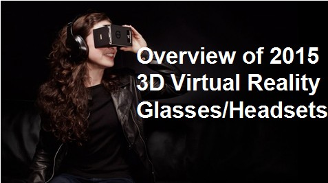 2015 3D VR glasses and headsets