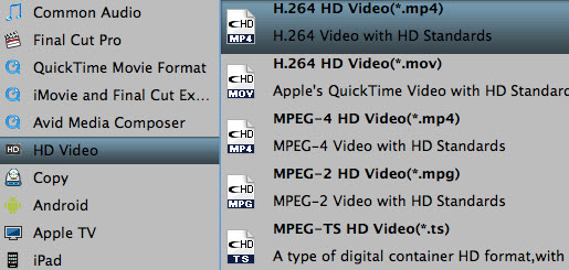 Choose h264 HD mp4