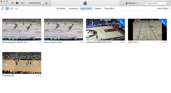 Drag videos into iTunes