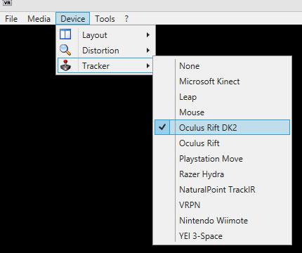 VR Player DK2 tracker
