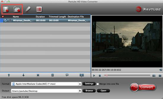 Load MTS files from HD camcorder