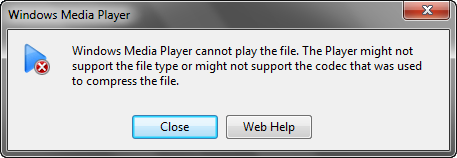 Close Window Media Player warning windows