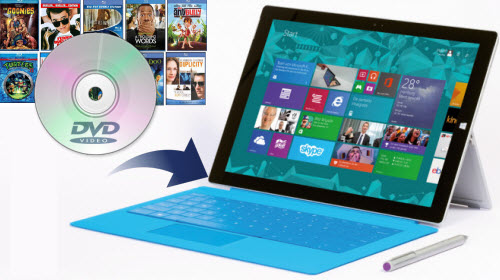 Watch DVD on Surface 3