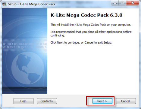 Install Windows Media Player K Codec Pack