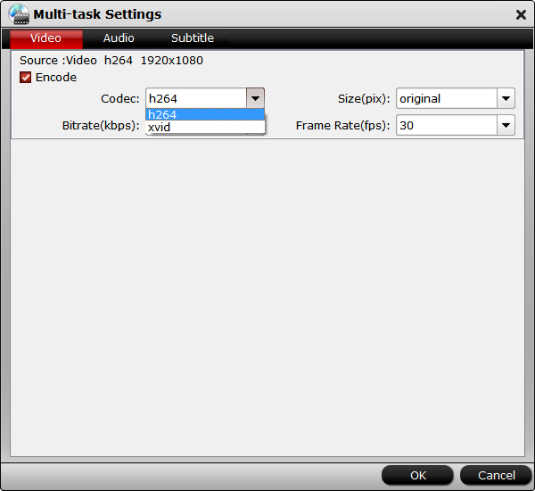 Shrink Blu-ray settings