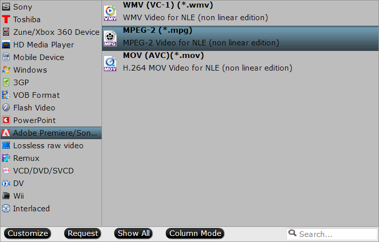 Output Vegas Pro specially optimized editing codec