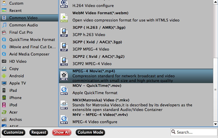 Output H.265 to iTunes MP4
