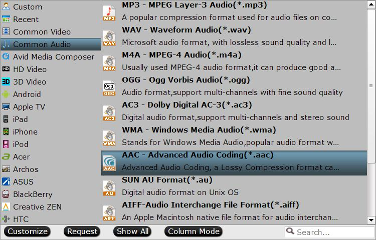 output to aac for apple watch How to Convert AC3 Audio in MP4/MKV to AAC Easily