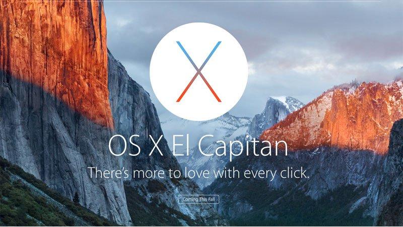 OS X 10.11 EL CAPTIAN