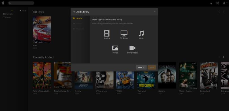 Add media files to plex library