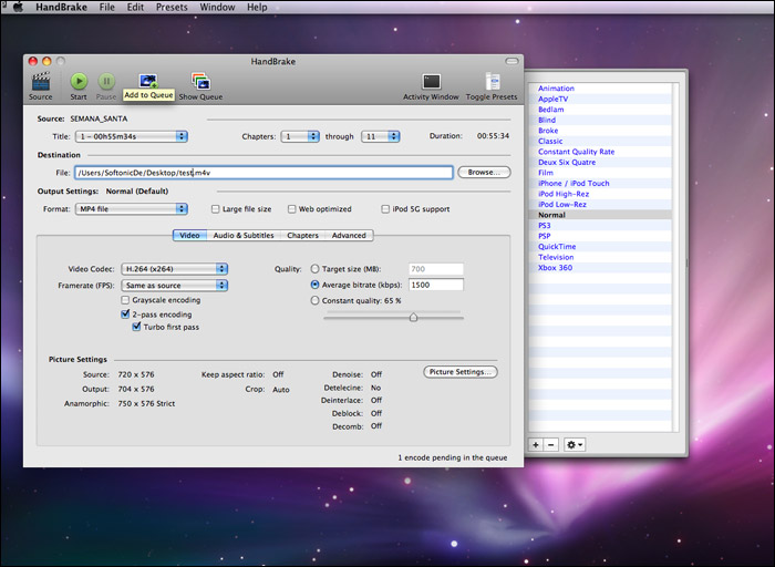 How to Convert Videos, DVD, Blu-ray with Handbrake on Mac OS X