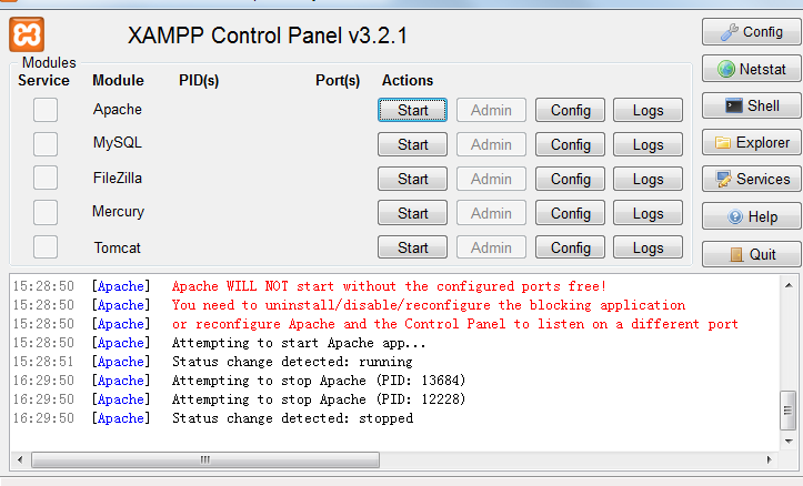 Install XAMPP software