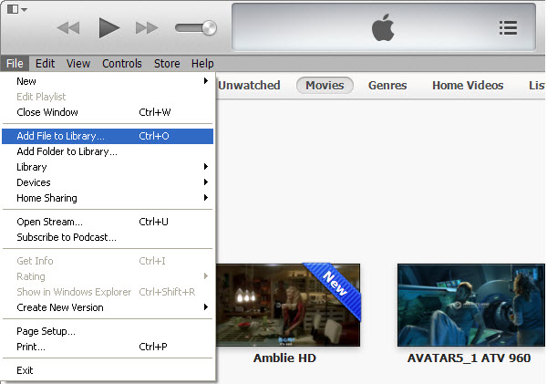 Add video to iTunes
