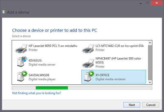 Add Xbox One to device and printers panel