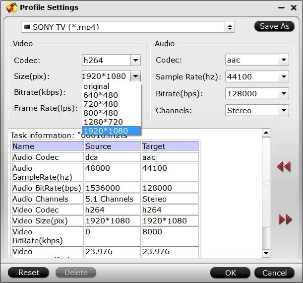 Adjust video audio presets in DVDAid