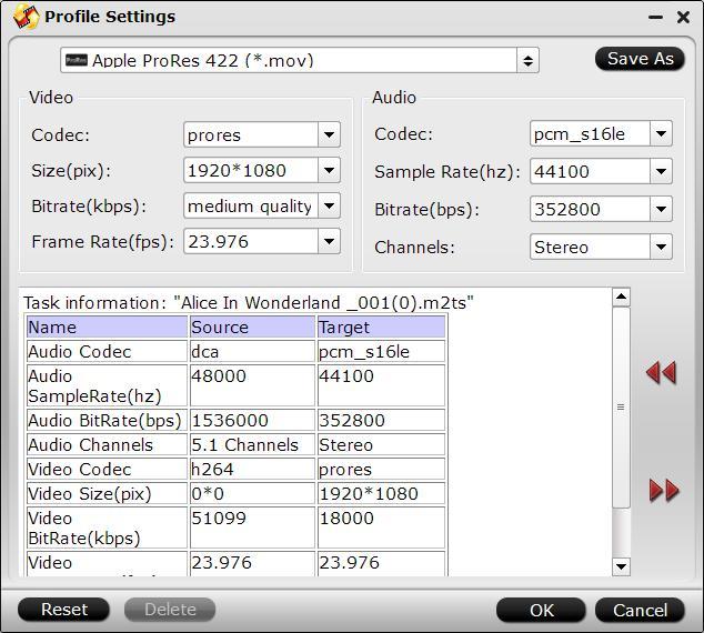 Customize output profile parameters