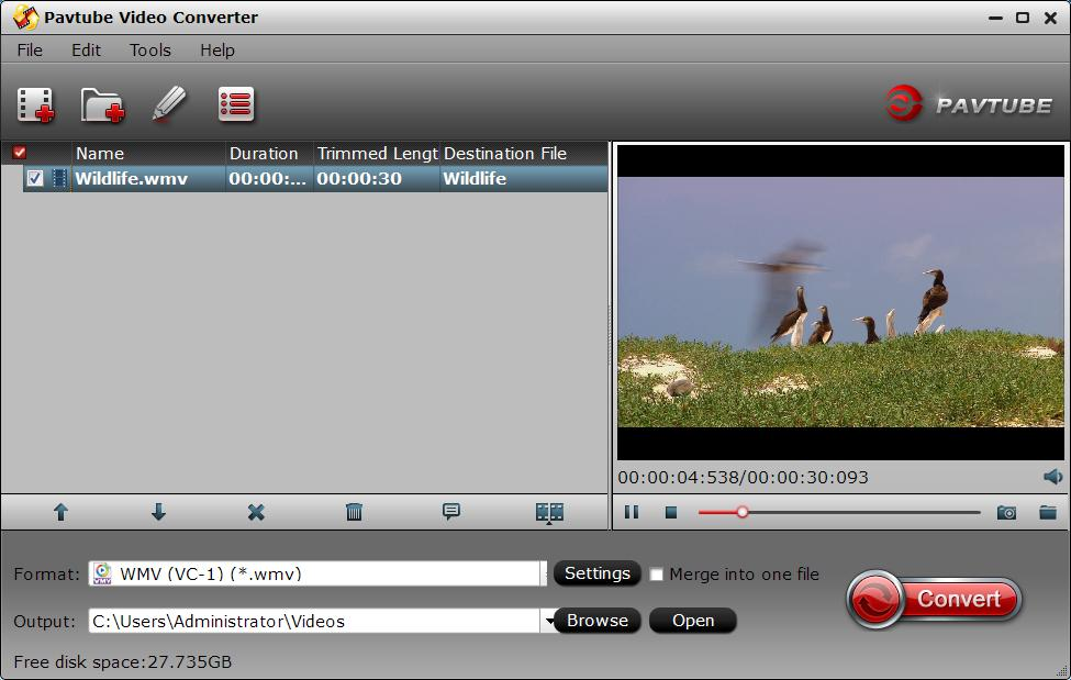 Add source video files to the program