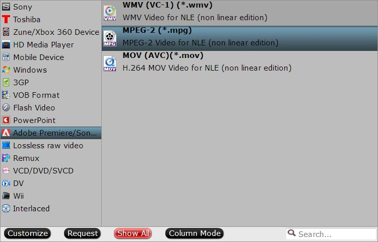 specify output file format How to Convert MOV to Sony Vegas Compatible Formats?
