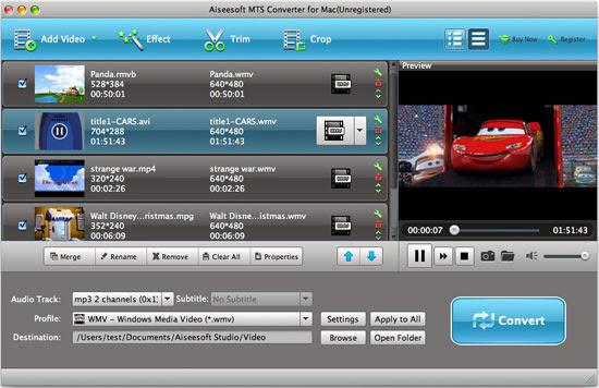 Tipard MTS M2TS Converter for Mac