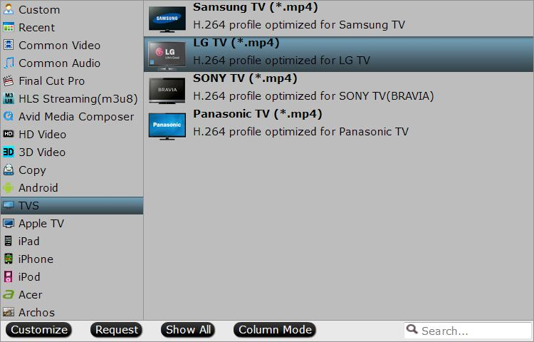 Output LG TV optimized file format