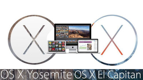 Comparison of Mac OS X 10.11 El Capitan and 10.10 Yosemite