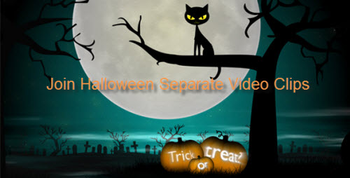 Join Halloween video clips into one