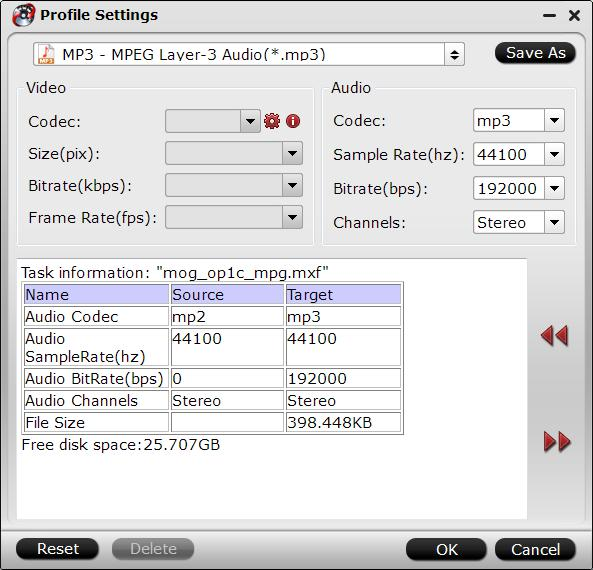 Customize output audio profile parameters