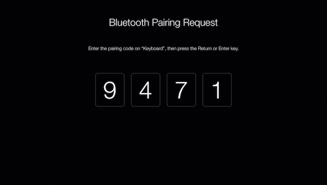 Bluetooth pairing code