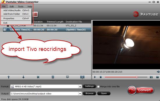 Import Tivo files