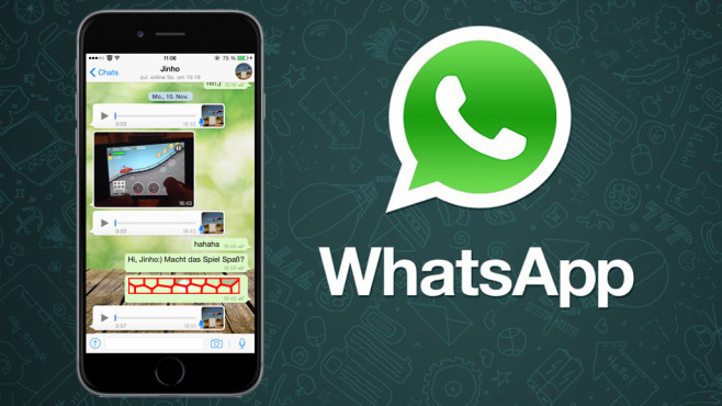 iPhone WhatsApp message